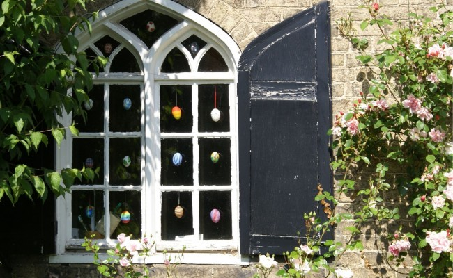 Easter Eggs in Window